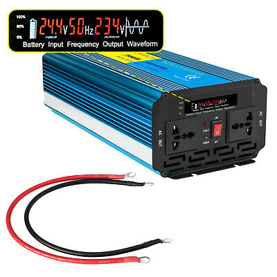 Pure Sine Wave Inverter 3000W Max 6000W 24V-240V Watt Power Car Caravan Camping