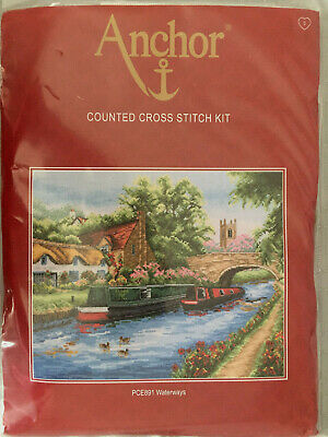 Anchor Counted Cross Stitch Kit Waterways PCE891 New