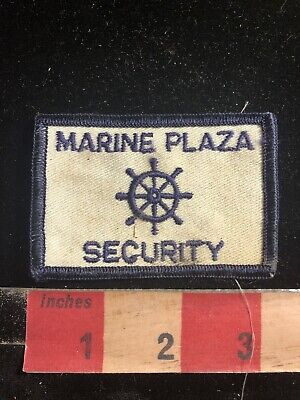 Vtg Police / Security Related Patch MARINE PLAZA SECURITY 90RA