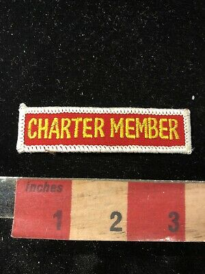 Yellow On Red CHARTER MEMBER Tab Patch 02Y4