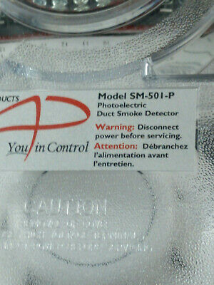 Air Products And Controls Model Sm-501-P Photoelectric Duct Smoke Detector