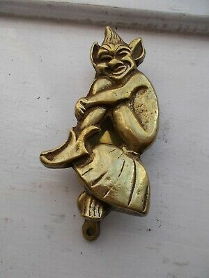 Cornish Pixie solid brass door knocker [lot 1]
