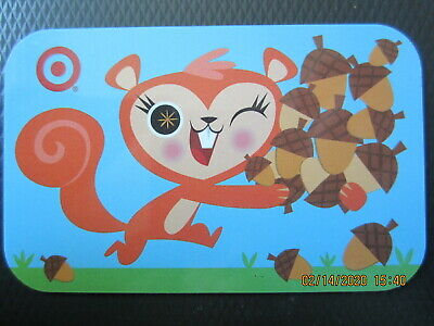 BROWN SQUIRREL & ACORNS   TARGET  trade NO VALUE collect GIFT CARD 2