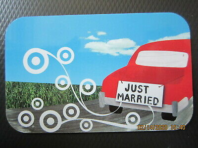 RED CAR JUST MARRIED  TARGET  trade NO VALUE collect GIFT CARD 2