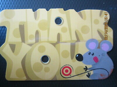 THANK YOU CHEESE & LITTLE RAT  TARGET  trade NO VALUE collect GIFT CARD 2