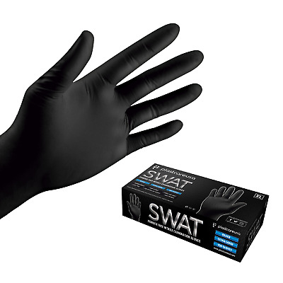 Black Nitrile Disposable Tattoo EXAM Food Cleaning Gloves Powder/Latex Free S-XL