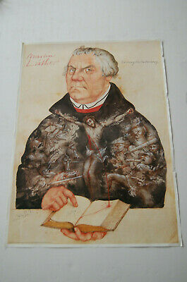 Michael Mathias Prechtl Plakat Martin Luther HANDSIGNIERT TOP