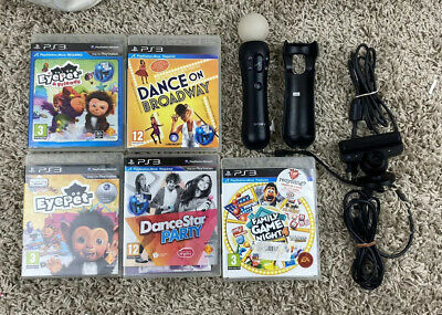 1x Sony PlayStation 3 PS4 MOVE Motion CONTROLLER + 5 Ps3 Games + Camera psvr vr