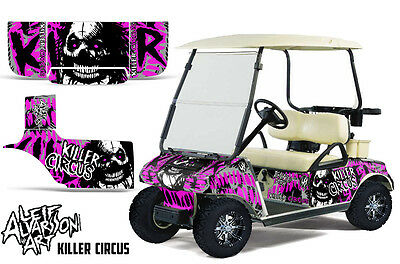 Club Auto Golf Cart Wrap Grafiken Vinyl Aufkleber Set 1983-2014 Zirkus Pink