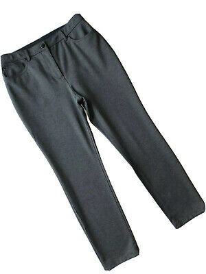 So Slimming by Chico's Ponte Pants Size US 6 Gray Slim Leg Stretch Chico's 0.5
