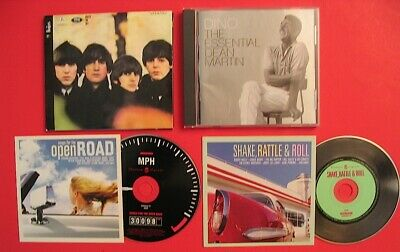 4 CD LOT The Beatles Dean Martin Songs for the Open Road Shake Rattle & Roll