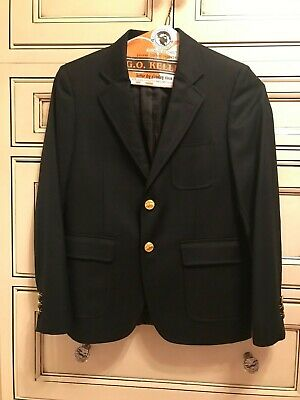 Brooks Brothers Classic Two Button Prep Blazer Size 12 Boys Navy Blue
