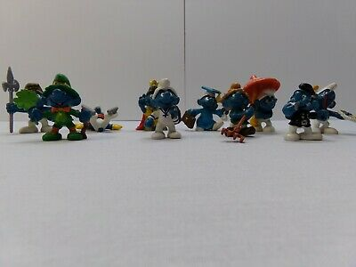RARE Complete SET 12 Cute Figures SMURFS Smurf DANGLERS Original ITALY 2011 MINT