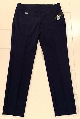 Alfani-NWT - Dress Pants-Dark Blue -Stretch - Tummy Control - Slim Leg Pants-10P