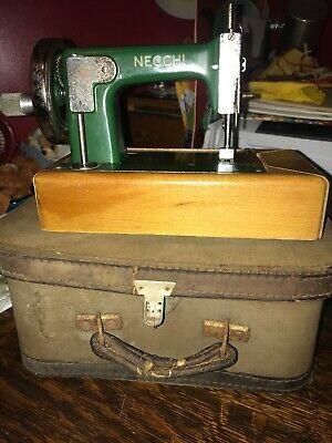 Vintage Necchi Childs Musical Sewing Machine With Case Italy