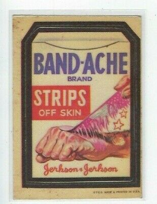 Vintage 1973 Topps Wacky Packages CLOTH Series BAND-ACHE STRIPS vg no reserve