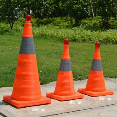 Telescopic Folding Barricades Warning Sign Reflective Oxford Traffic Cone KM