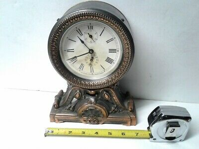 Antique 1910 Seth Thomas long ringing alarm mantle mantel clock, working 5' slow