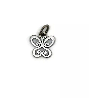 James Avery Small Spring Butterfly Charm Pendant 925 Sterling Silver