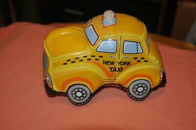 NYC New York City Taxi Stuffed Plush Yellow Shiny 5.5 inches NYC-1009