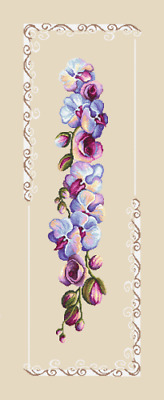 Orchid 1~counted cross stitch pattern #891~Flowers Floral Nature Garden Chart