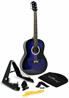 Martin Smith 6 Acoustic SuperKit Stand, Tuner, Bag, Strap, Picks, and Blue