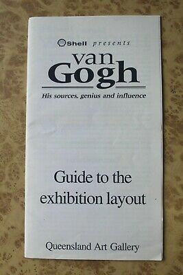 VAN GOGH 1994 Queensland Art Gallery Exhibition Guide & Layout Map ~ Vintage 90s