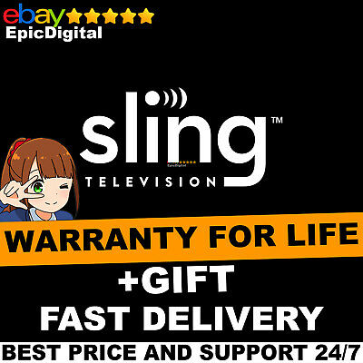 Fast Delivery| ⭐ Sling Tv Orange And Blue ⭐ Year Subscriptio