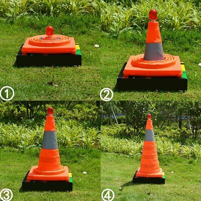 Telescopic Folding Barricades Warning Sign Reflective Oxford Traffic Cone NF