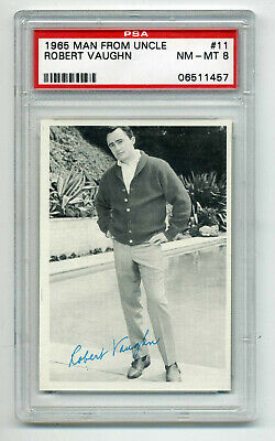 1965 Topps Man From Uncle #11  Robert Vaughn    Psa Nm-Mt 8