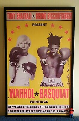 Warhol & Basquiat - Poster - Signed in print - Framed