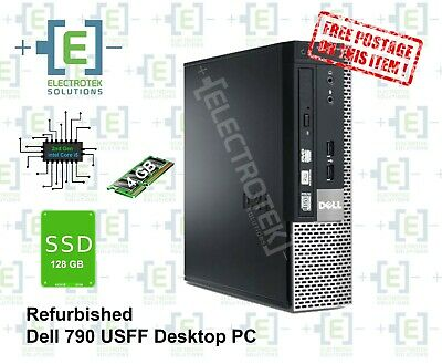 Refurbished Dell Optiplex 790 USFF intel Core i5 - 4GB RAM & 128GB SSD
