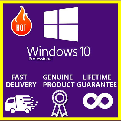 Windows 10 Pro 32 /64 Bit Professional License Key Original [Instant Delivery]