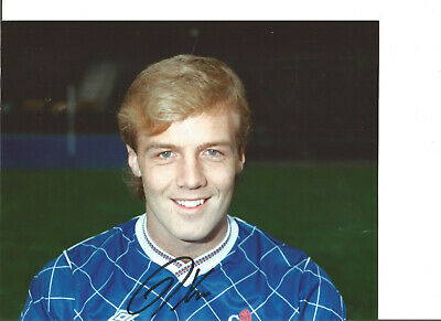Football Autograph Kerry Dixon Chelsea FC Signed 10x8 inch Photograph JM101