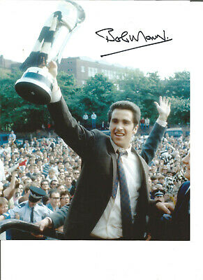 Football Autograph Bobby Moncur Newcastle United signed 10x8 in Photograph JM94