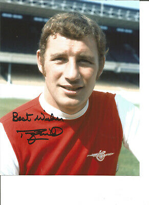 Football Autograph Terry Neil Arsenal FC Signed 10x8 inch Photograph JM203