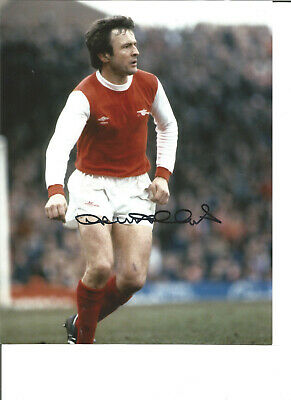 Football Autograph John Hollins Arsenal FC Signed 10x8 inch Photograph JM32