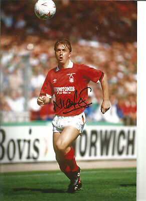 Football Autograph Nigel Jemson Nottingham Forest Signed 12x8 in Photograph JM44
