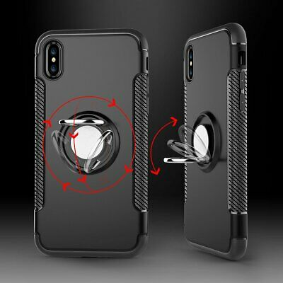 For iPhone X Phone Case Skin Cover With 360°Finger Ring Stand Holder