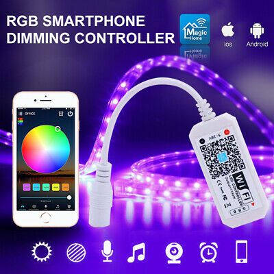 Mini WiFi Controller IR RF Remote for RGB/RGBW LED Strip Light Alexa Google HoME