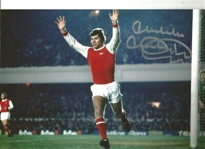 Malcolm Mcdonald Arsenal 10x8 inch hand signed authentic football photo S007B