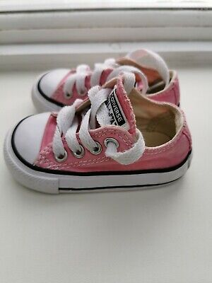Girls Infant Pink Converse Size 3 Good