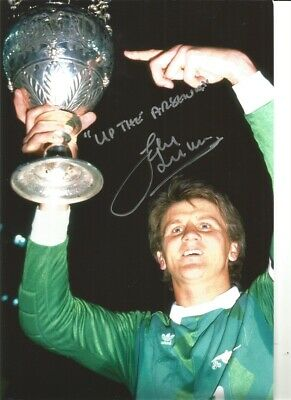John Lukic Arsenal 10 x 8 inch hand signed authentic football photo S014A