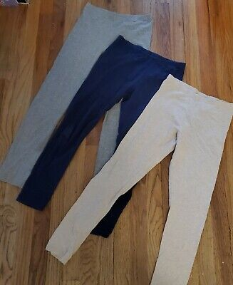 Faded Glory Girls Youth Leggings LOT Size XL (14-16) Athletic Cotton Seamless
