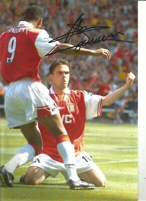 Marc Overmars Arsenal 12 x 8 inch hand signed authentic football photo S017B