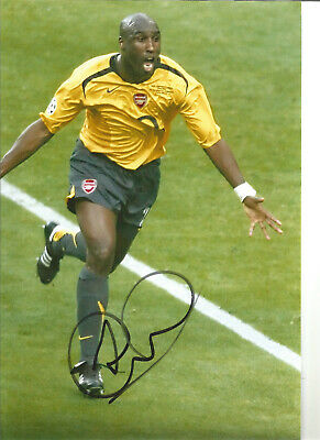 Sol Campbell Arsenal Signed 10x8 inch hand signed authentic football photo S026