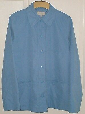 Marks & Spencer Lightweight Womens Summer Jacket Pale Blue Size 10 Ex Condition