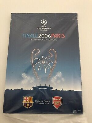 Barcelona V Arsenal 2006 Champions League Final Programme Brand New And Sealed