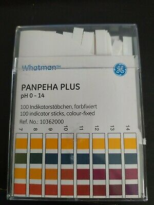 Whatman Panpeha Plus pH 0-14 Indicator Sticks 100