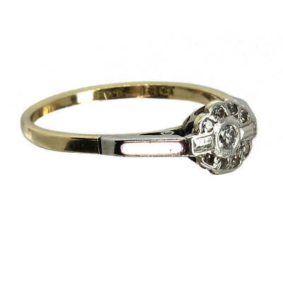 1920s / 1930s Vintage Art Deco Period Diamond Engagement Ring / Gift - SEE VIDEO